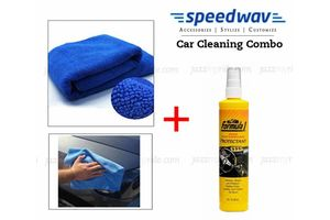 Speedwav Car Cleaning Kit Formula 1 Dashboard Protectant+ Microfiber Cloth