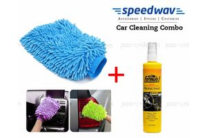 Speedwav Car Cleaning Kit Formula 1 Dashboard Protectant+ Microfiber Glove