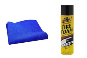 Speedwav Car Cleaning Kit Formula 1 Tyre Foam Shiner + Microfiber Cloth