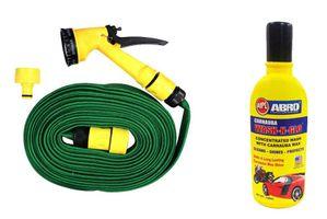 Speedwav Bike Cleaning Kit Water Spray Gun 10 Meter + Abro Shampoo 100 ml