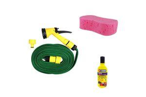 Speedwav Bike Cleaning Kit Water Spray Gun + Abro Shampoo + Magic Sponge