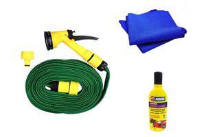 Speedwav Bike Cleaning Kit Water Spray Gun + Abro Shampoo + Microfiber Cloth