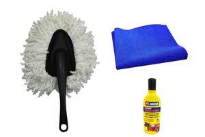 Speedwav Bike Cleaning Kit Microfiber Duster Small + Cloth + Abro Shampoo