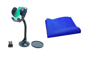 Car Combo Fly Mobile/GPS Holder + Speedwav Microfiber Cleaning Cloth