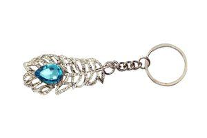 Accedre Lucky Charm Chrome Keychain - Blue Stone