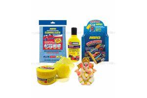 ABRO Combo - Wax Shampoo-100ml+ Wax Polish-60ml+ Microfiber Cloth + Sponge + Lord Ganesha Idol