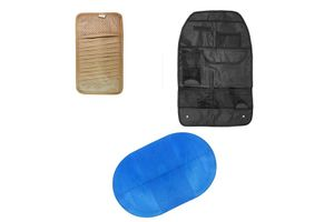 Combo of Car Back Seat Organiser + CD Visor Holder + Magic Sticky Pad