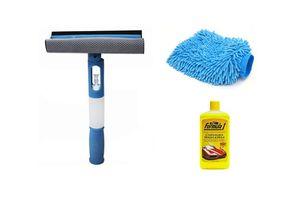 Combo of Formula 1 shampoo + 3 in 1 Wiper & Microfiber Gloves