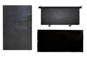 Combo of Front roller Sunshade(Black) + Electrostatic Sunshade(Set of 4) + Rear Black Roller Sunshade