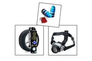 Combo of Tyre Valve Caps + Help Tyre Sealent +7 LED headLamp Light
