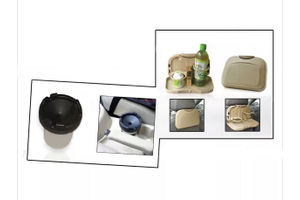 Combo of Speedwav Car Dining Tray-Beige & Portable Cigarette Ashtray