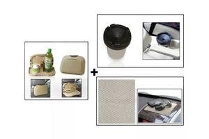 Combo of Speedwav Car Dining Tray-Beige+ Anti-Slip Mat-Beige & Cigarette Ashtray