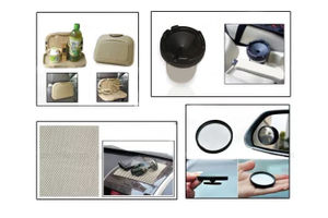 Combo of Speedwav Car Dining Tray-Beige+ Anti-Slip Mat-Beige+ 3R Blind Spot Mirror & Cigarette Ashtray