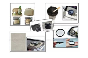 Combo of Speedwav Car Dining Tray-Beige+ Anti-Slip Mat-Beige+ 3R Blind Spot Mirror+ Car Trash/Dust Bin & Cigarette Ashtray