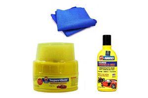 Abro Bike Cleaning kit (Shampoo Bottle + Wax Polish + Microfiber Cloth)