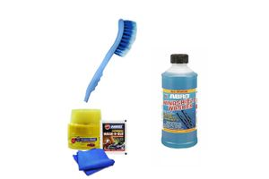 Combo of Abro Car Cleaning Kit+Windshield Cleaner+2 in 1 Car Cleaning Brush