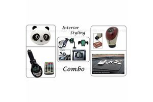 Combo of Panda Perfume 30gm+FM Modulator+Mobile Holder+Gear Knob+Anti Slip Mat