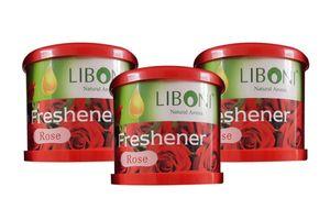 Liboni Natural Car Air Freshener/Perfume Set Of 3-Rose