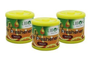 Liboni Natural Car Air Freshener/Perfume Set Of 3-Lemon