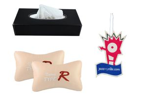 Combo of Speedwav Tissue Holder Black+Type R Pillow Beige+Jazzy Perfume