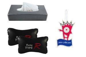 Combo of Speedwav Tissue Holder Grey+Type R Pillow Black+Jazzy Perfume