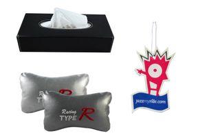Combo of Speedwav Tissue Holder Black+Type R Pillow Grey+Jazzy Perfume
