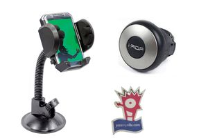 i-pop Mini Steering Wheel Knob + Car Mobile Holder + Jazzy Perfume