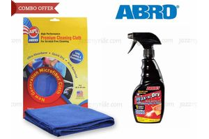 ABRO 1 Step Wax N Dry WD - 473 (473 ml)+Microfiber Cloth