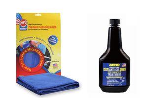 ABRO Diesel Fuel Anti-Gel Treatment DA-650 354 ml+Microfiber Cloth