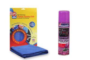 ABRO Car Dashboard Polish DP-533-Lilac (220 ml)+Microfiber Cloth