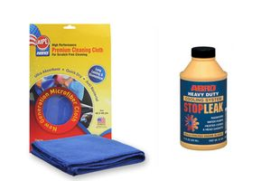ABRO Liquid Heavy Duty Stop Leak 325ml SL-624+Microfiber Cloth