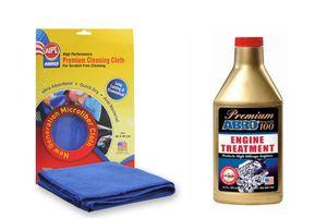 ABRO Premium Engine treatment - Smooth 100 SM-100 444 ml+Microfiber Cloth