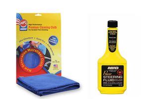 ABRO Power Steering Fluid PS-700 (354 ml)+Microfiber Cloth