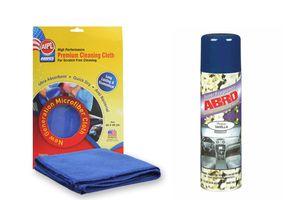 ABRO Scented Dashboard Polish-Vanilla DP-629(220ml)+Microfiber Cloth
