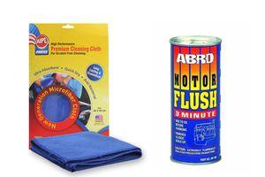 ABRO Motor Flush-350 ml MF-390 350 ml+Microfiber Cloth