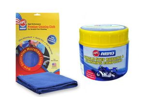 ABRO Rubbing Compound-Fine RCH (100 gm)+Microfiber Cloth