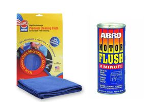 ABRO Motor Flush MF-390 (443 ml)+Microfiber Cloth