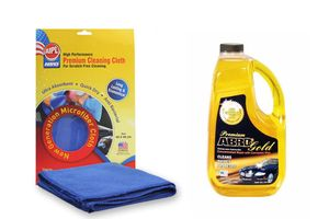 ABRO Premium Gold Car Wash CW-990 1.82 ltr+Microfiber Cloth