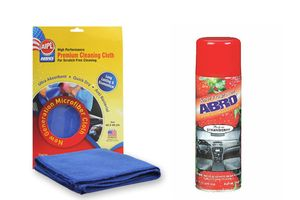 ABRO Car Dashboard Polish DP-629-Strawberry (220 ml)+Microfiber Cloth