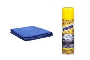 ABRO Car Dashboard Polish DP-629-Lemon 220 ml+Microfiber Cloth