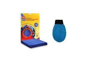 ABRO Microfiber Mitt Terry MM-180+Microfiber Cloth