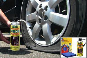 ABRO Quick Fix Tyre Inflator and Sealant QF-25 (340 gm)+Microfiber Cloth