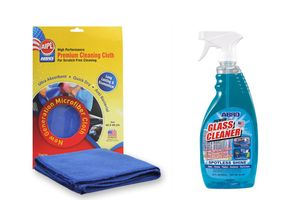 ABRO Glass Cleaner GC-300 (650 ml)+Microfiber Cloth