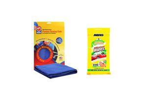 ABRO Multi Purpose Wipes CW-200+Microfiber Cloth
