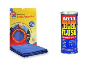 ABRO Motor Flush MF-390 100 ml+Microfiber Cloth