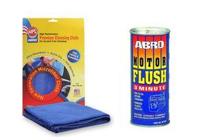 ABRO Car Motor Flush Fluid MF-390-250 - 250ml+Microfiber Cloth