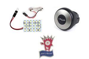 i-pop Mini Steering Wheel Knob+ 24 SMD Roof Light + Jazzy Perfume
