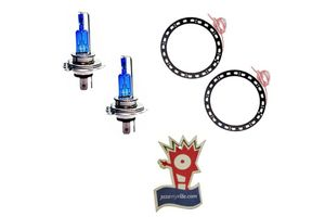 Combo Speedwav CYT Bike Headlight Bulb+LED Angel Eyes-White+Jazzy Perfume
