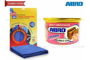 Combo of Abro Scent Organic Air freshener BUBBLE GUM+Microfiber Cloth CT-210