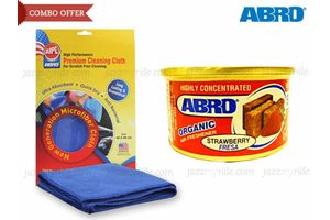 Combo of Abro Scent Organic Air freshener-STRAWBERRY+Microfiber Cloth CT-210